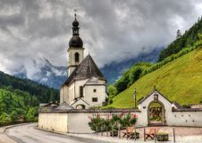 Alpine church Stock Images