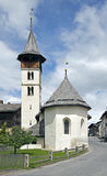 Alpine church, Switzerland Stock Image