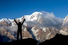Alpine Climber Reached Summit royalty free stock photo