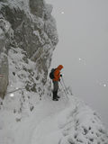 Alpine climbing Stock Photos