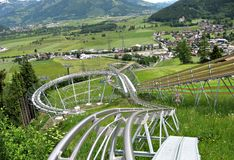Alpine Coaster in Kaprun Royalty Free Stock Image