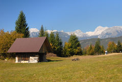 Alpine cottage Stock Photography