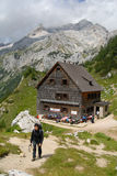 Alpine cottage achieved Stock Photography