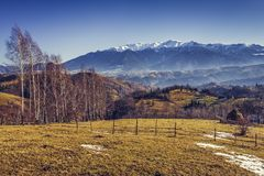 Alpine countryside scenery Stock Photography