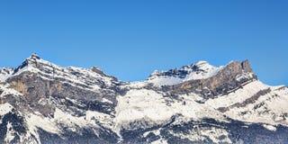 Alpine Crest in Winter Royalty Free Stock Photos