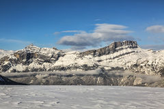 Alpine Crest in Winter Royalty Free Stock Photography