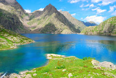 Alpine Dam Stock Image