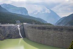 Alpine dam Royalty Free Stock Images
