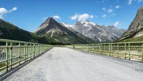 Alpine dam Stock Photo