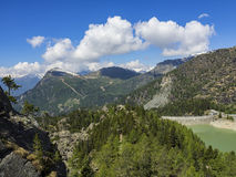 Alpine dam Royalty Free Stock Photography