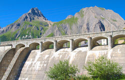 Alpine dam Stock Photo