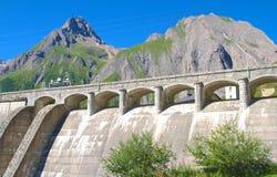 Alpine dam. View of morasco dam in formazza valley, alps Stock Photo