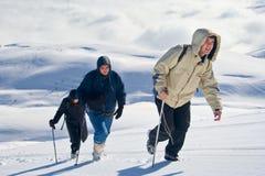 Alpine expedition climbing Mt. Sar Planina stock image