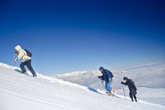 Alpine expedition climbing Mt. Sar Planina Stock Image