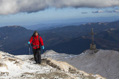 Alpine expedition to Caraiman Cross Stock Image