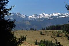Alpine fall. View from Tulisa Mountains to Retezat Mountains Stock Photography