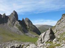 Alpine Falten stockfotos