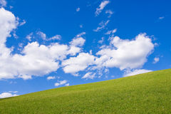 Alpine farm land Stock Photo