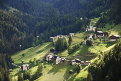 Alpine Farming Village Stock Image