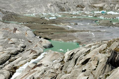 Alpine Furka glacier melt Stock Photo