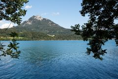 Alpine Fuschlsee lake Stock Photo