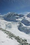 Alpine glacier. Scene (Wallis, Switzerland stock image