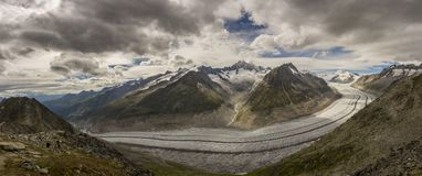 Alpine glacier Royalty Free Stock Photos