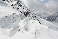Alpine glacier - landscape Royalty Free Stock Photo