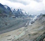 Alpine glacier melt 2. Austria Pasterze glacier panorama - glacier melt Stock Image