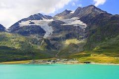 Alpine glacier stock image