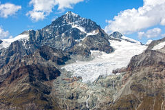 Alpine glacier melting in the Swiss Alps Royalty Free Stock Image