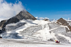 Alpine glacier skiing Stock Photos