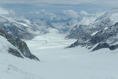 Alpine glaciers Royalty Free Stock Photography