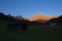 Alpine glow. Nice alpine glow in south tyrol Royalty Free Stock Photos