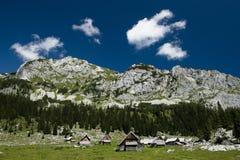 Alpine Häuschen Stockbild