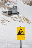 Alpine hazard. Seen at Zugspitze, Germany Stock Images