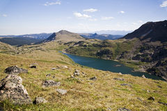 Alpine high lake Stock Photography