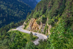 Alpine highway in France. Royalty Free Stock Photos
