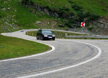 Alpine highway Transfagarasan in Romania. Mountains, up to 2000 meters altitude Stock Image
