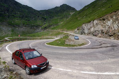 Alpine highway Transfagarasan in Romania Royalty Free Stock Images