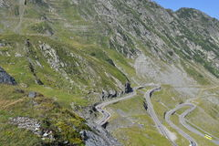 Alpine highway Transfagarasan in Romania Royalty Free Stock Photo