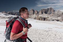 Alpine Hiker Royalty Free Stock Photos