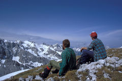 Alpine hikers Royalty Free Stock Photos