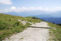 Alpine Hiking Path Stock Image