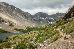 Alpine Hiking Trail at Upper Blue Lake Royalty Free Stock Photo