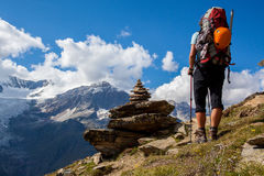 Alpine hiking Royalty Free Stock Photography