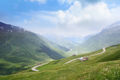 Alpine hills Royalty Free Stock Images