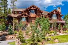 Alpine home in Breckenridge Royalty Free Stock Image