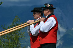 Alpine Horn Festival Royalty Free Stock Photo