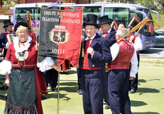 Alpine Horn Festival Stock Images